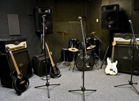 Gitaarles bij u thuis, studio, repetitieruimte